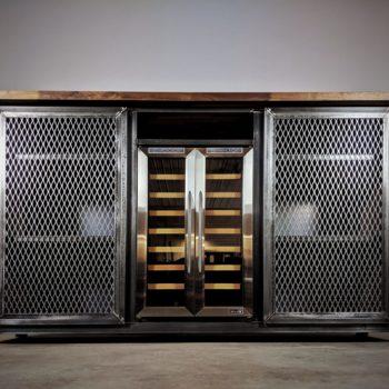 modern industrial liquor cabinet